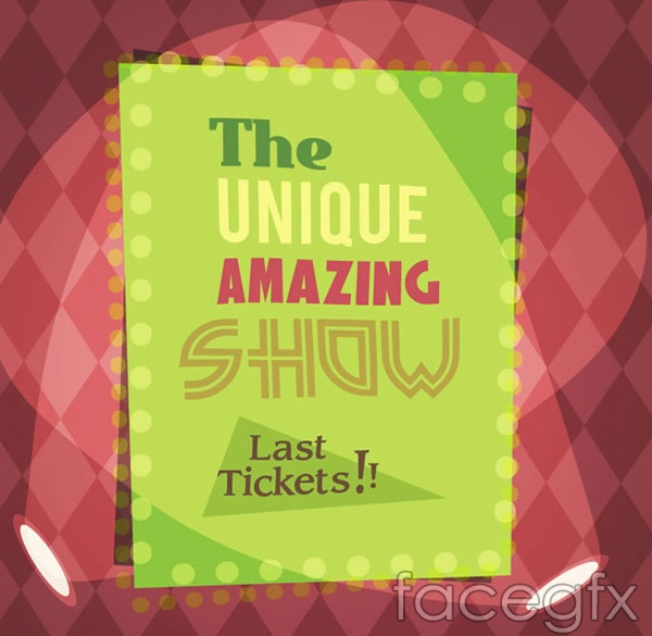 Vintage show posters vector