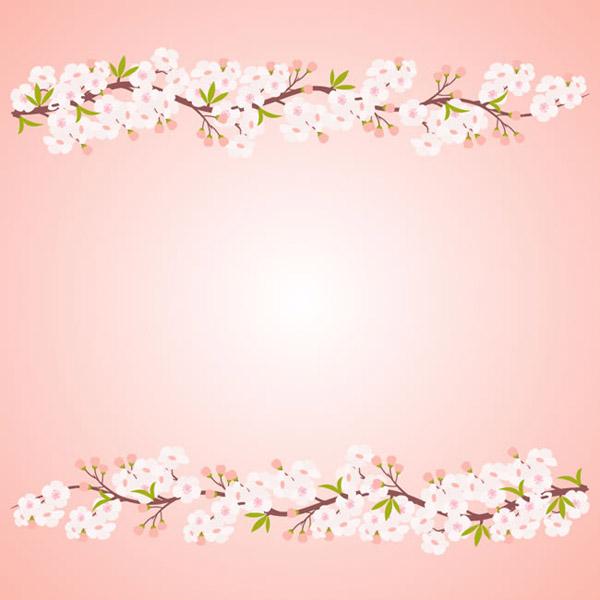 White peach background vector
