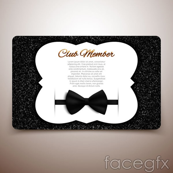 Club membership card vector