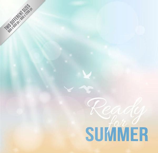Fantasy summer backgrounds vector