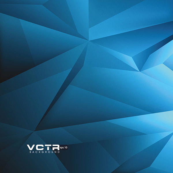 Polygon geometry background vector