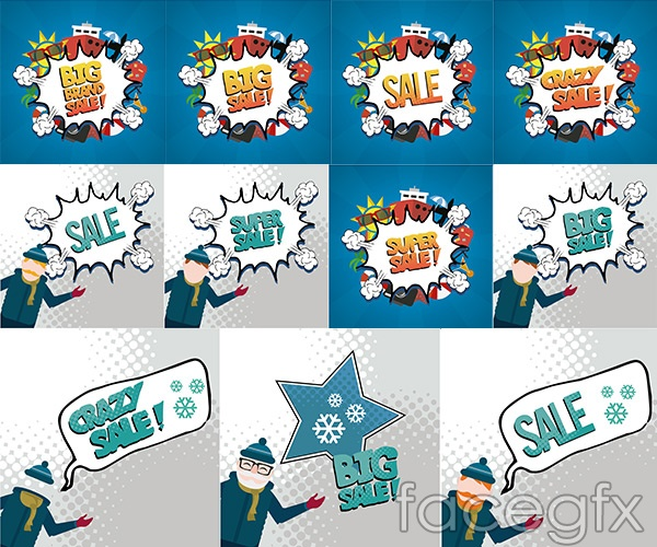 Promotional bang stick vector