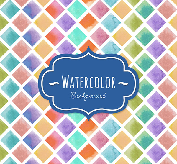 Watercolor diamond case background vector