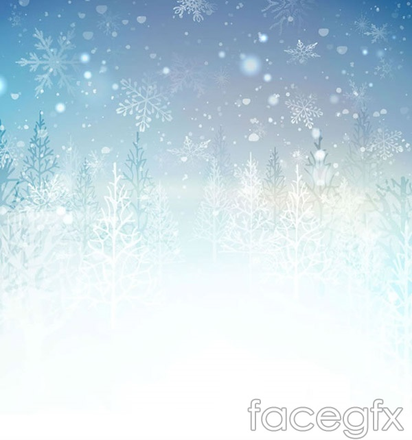 Snow forest landscapes vector