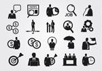 Black Business icon vector