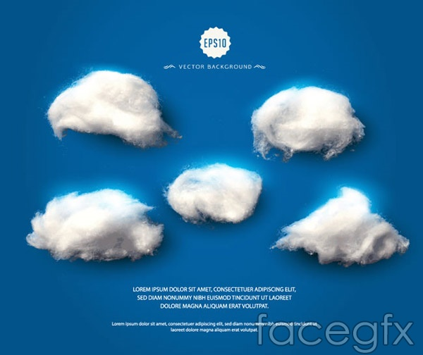 Cotton candy clouds vector