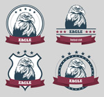 Bald Eagle tag vector