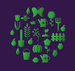 Green Garden icon vector