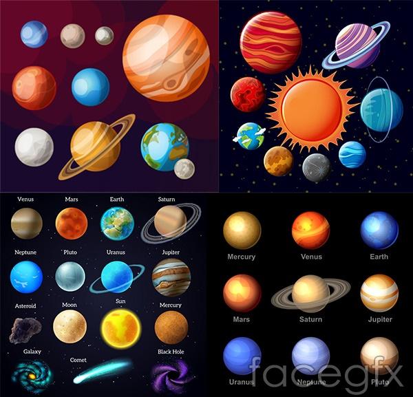 Galaxy universe vector