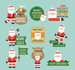 Santa Claus tab vector