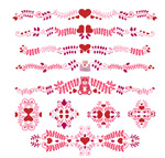 Valentine's day pattern lace vector