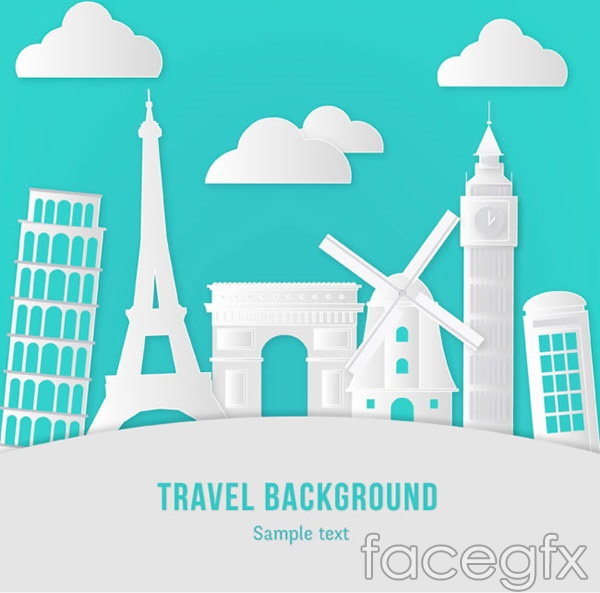 Travel clip art vector