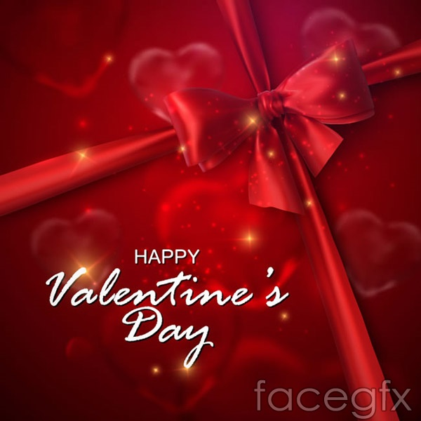 Bows Valentine's day cards vector