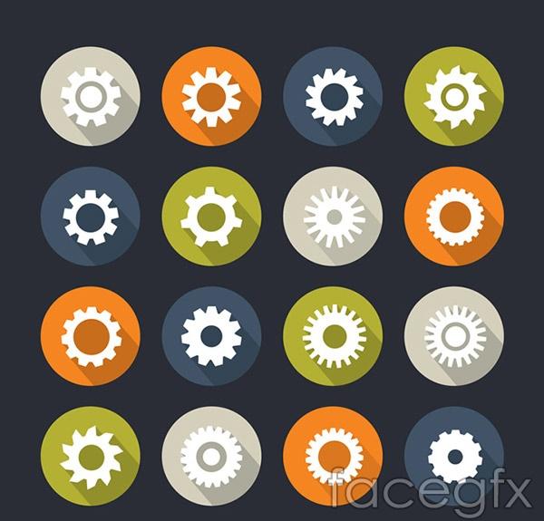 Circular gear icon vector