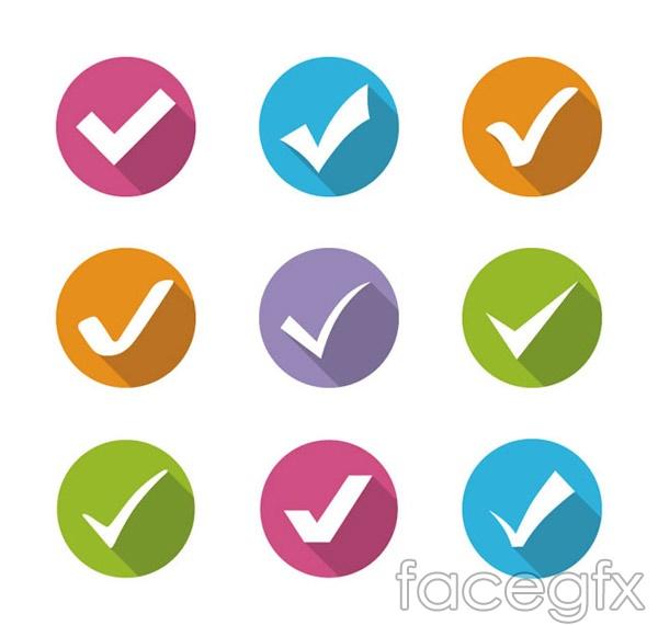 Color check mark icon vector