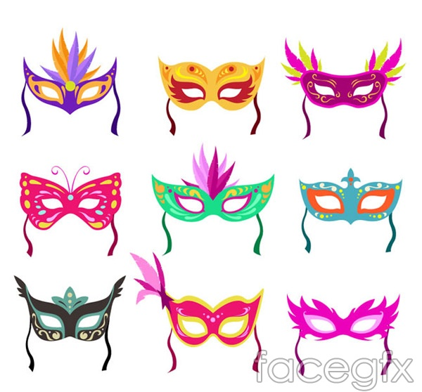 Coloured mask icon vector
