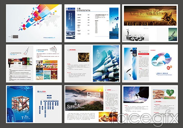 Corporate culture brochure vector