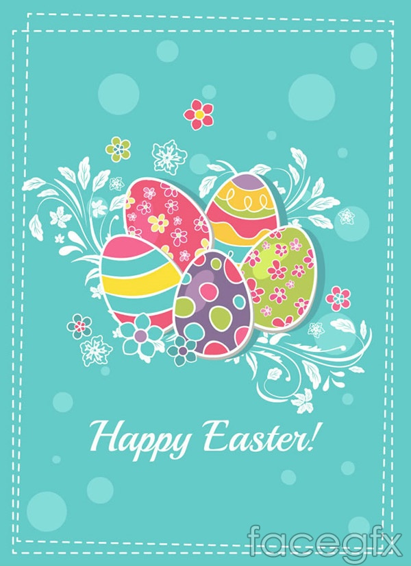Easter egg pattern stickers vector