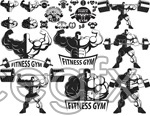Fashion and fitness icon vector