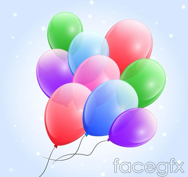 Fun and colorful balloons vector