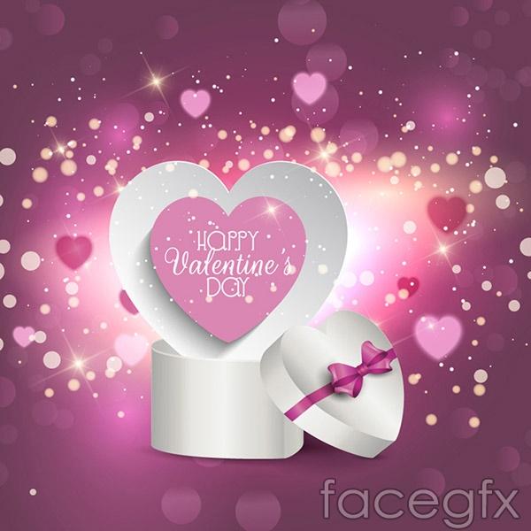Love gift box vector