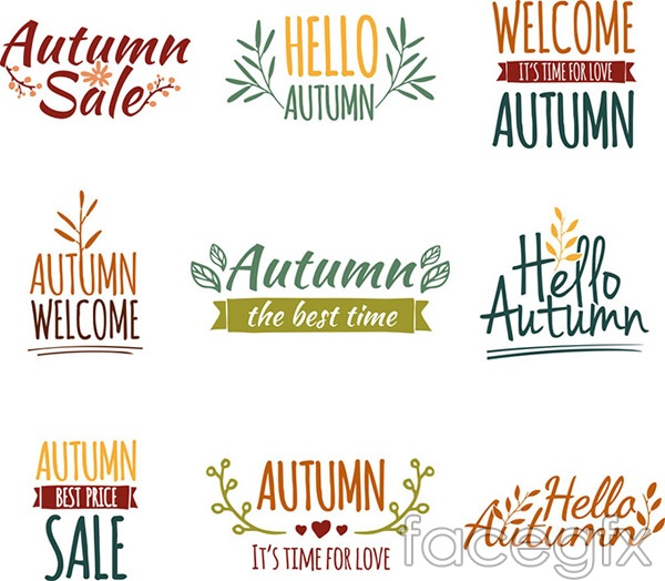 Autumn theme in English vector