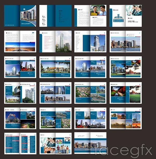 Blue business business book vector