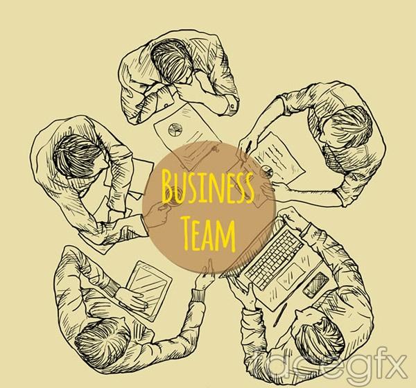 Business team top vector
