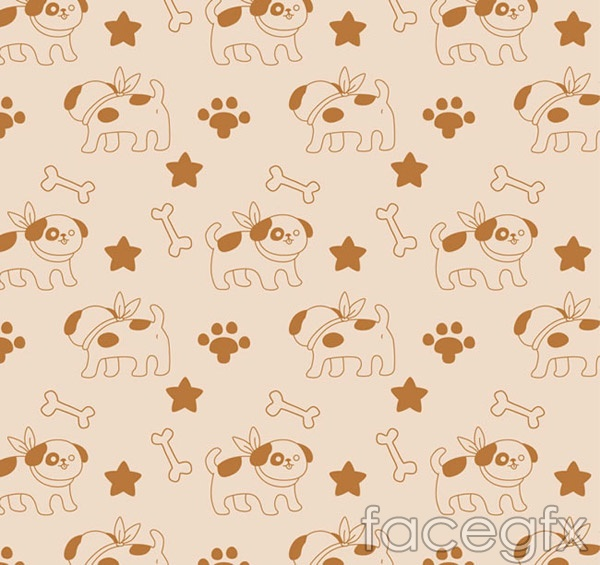 Cartoon dog and bone backgrounds vector