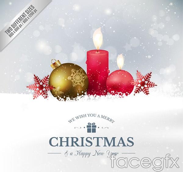 Christmas balls holiday greeting cards vector