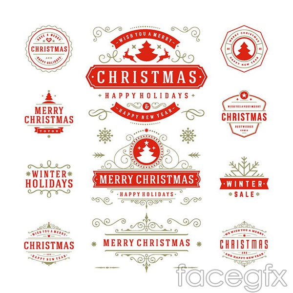 Christmas pattern border vector