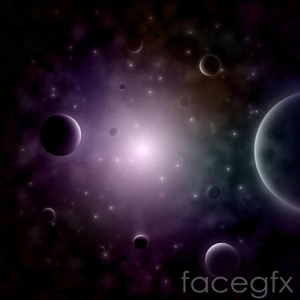 Cosmic cloud backgrounds vector