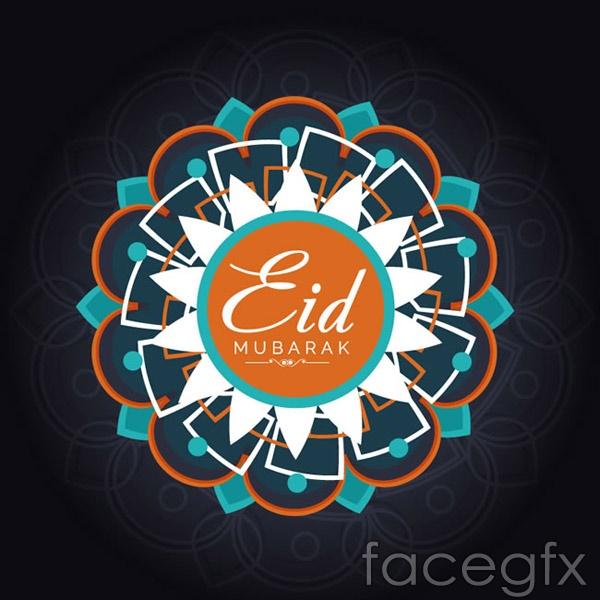 Eid al-Fitr pattern cards vector