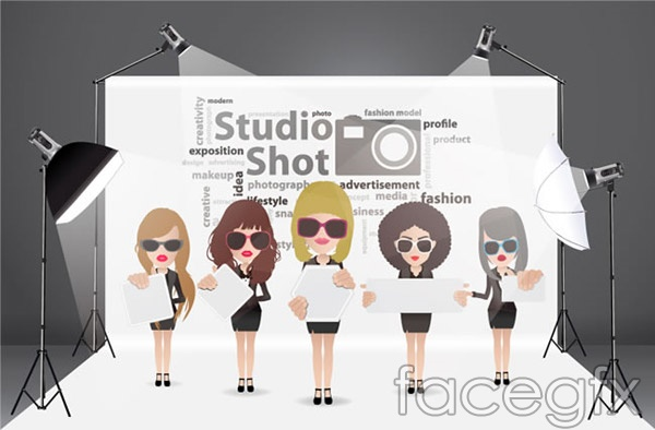 Fashion girl illustrations vector