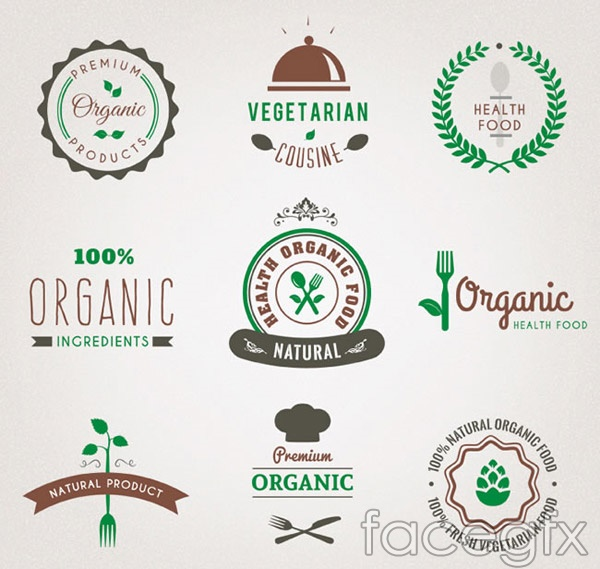 Green food mark vector
