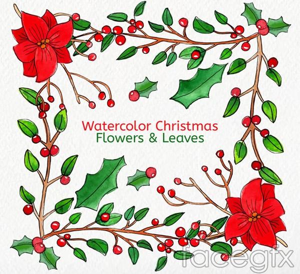 Mistletoe Christmas card vector