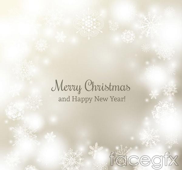 Silver snowflake Christmas cards vector