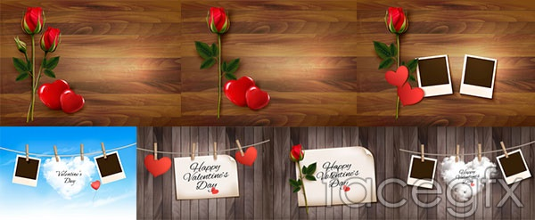 Valentine's Day Roses theme vector