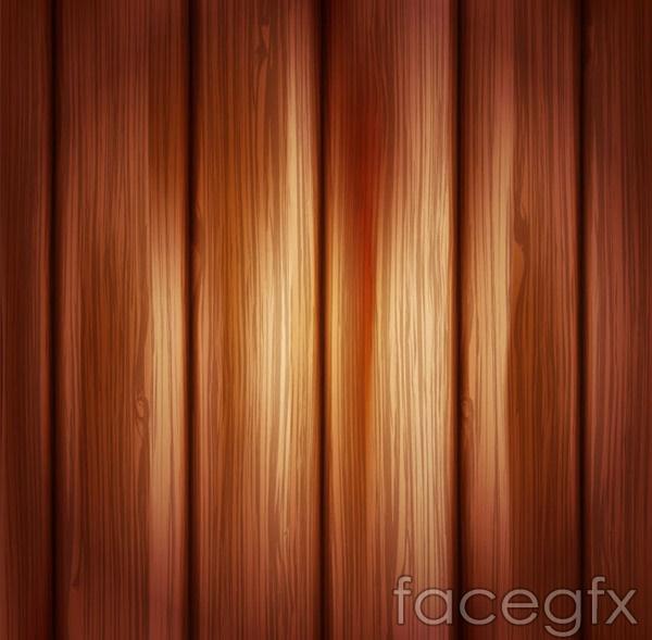Warm wood grain background vector