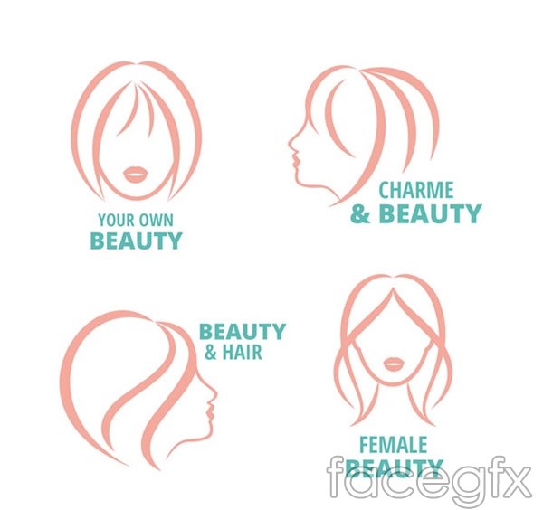 Woman's head logo vector