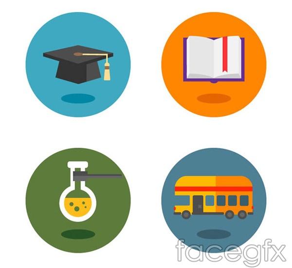 Cartoon campus icon vector