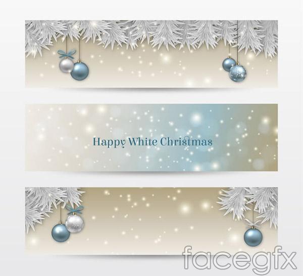 Christmas ball banner vector