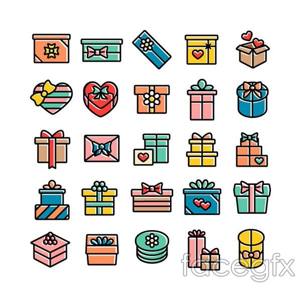 Creative gift box icon vector