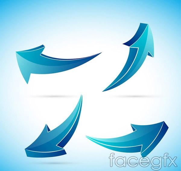Dynamic blue arrow vector