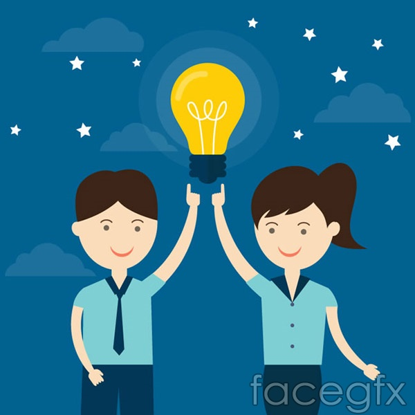 Lift the bulbs for men and women vector