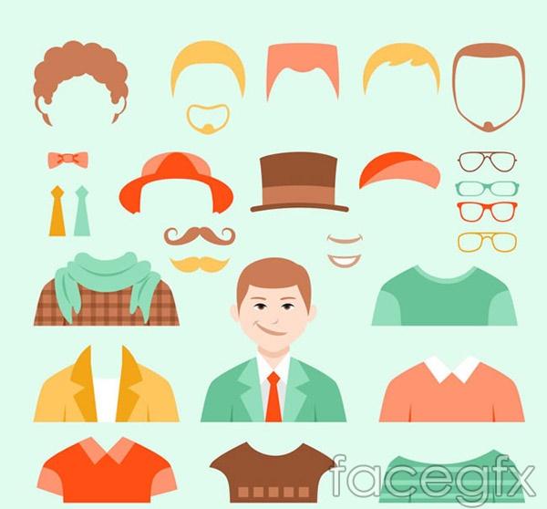 Men dress element vector