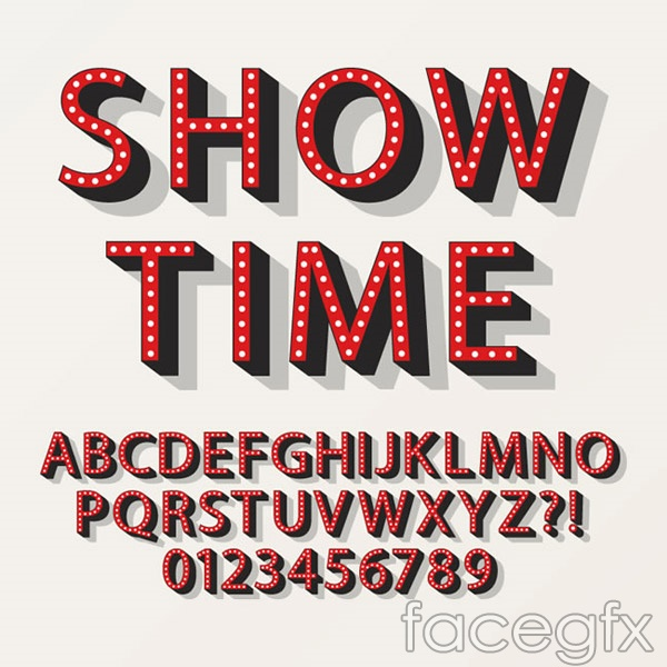 Red neon letters vector