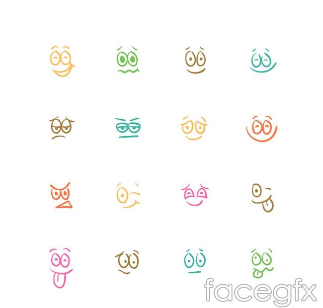 Simple emoticons vector