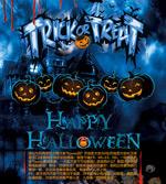 Halloween event flyer vector