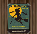 Halloween witch party vector